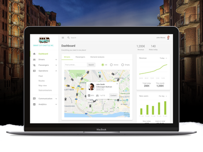 Shuttle Dashboard concept ride map driver shuttle user experience user interface design ui web