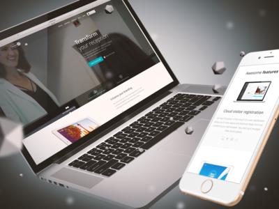 Swipedon website responsive management registration visitor ux ui web swipedon