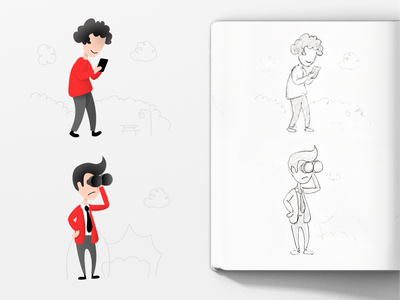 Style tryout for illustrations now sketch sketches illustration