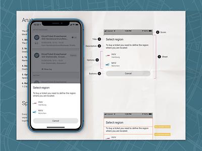 Design of the Action Sheet component user interface ui mobile app design system design components app