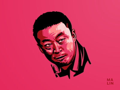 Ma Lin vector illustration vector ittf table tennis ma lin
