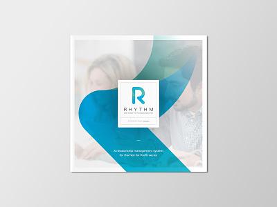 Rhythm brochure logotype typography logo mark gradient icon brochure cover brochure design print rhythm logo design logo