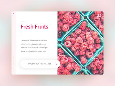Daily Ui 3 Fruity interface design visual designer visual design app design web design web user experience ux user interface ui daily ui daily