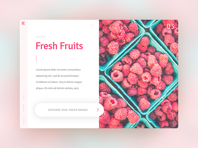 Daily Ui 3 Fruity interface design visual designer visual design app design web design web user experience ux user interface ui daily ui daily