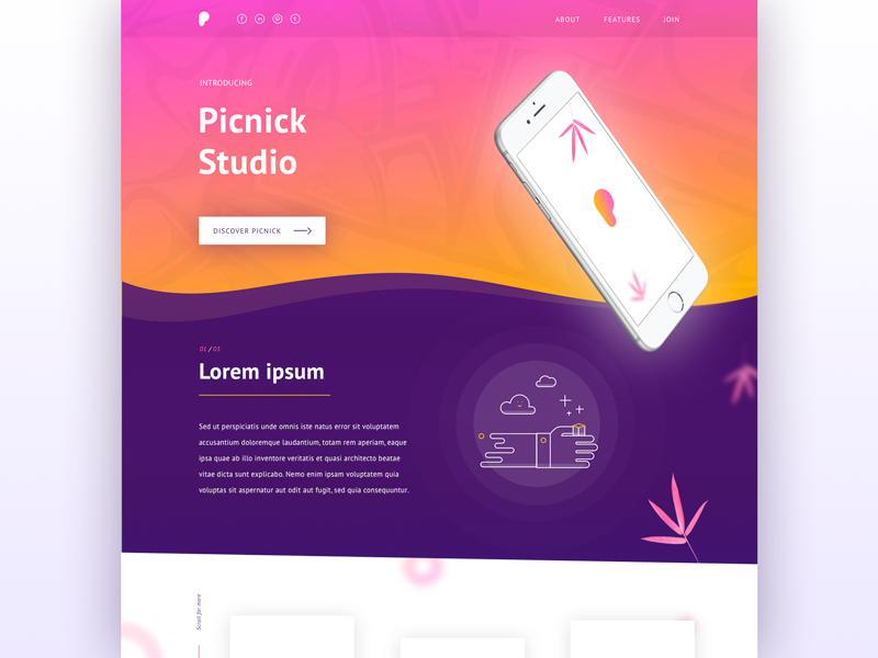 Picnic daily ui #006 user experience ux bristol designer design homepage landing page visual design web design web user interface ui daily ui