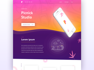 Picnic daily ui #006 user experience ux bristol designer design homepage landing page visual design web design web user interface ui daily ui