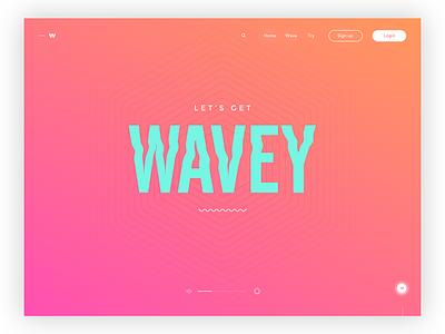 Let's get waves - Daily ui no.17 interface design digital design ux minimal landing page visual design web design web user interface ui daily ui