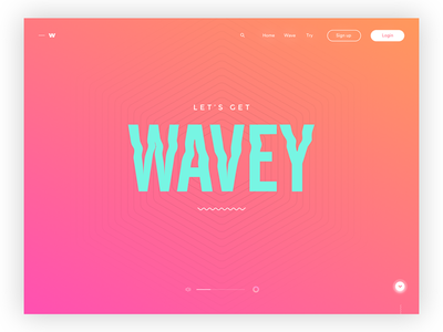 Let's get waves - Daily ui no.17 interface design digital design ux minimal landing page visual design web design web user interface ui daily ui