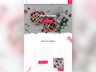 Daily ui no.22 interface design digital design food landing page visual design web page web design web user interface ui daily ui