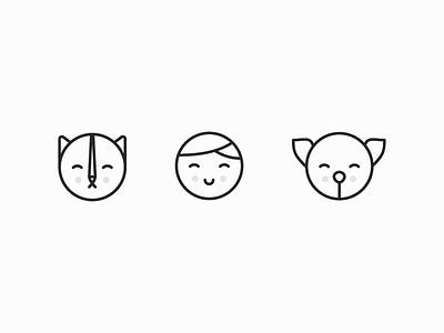 Icon set illustration icon icon set logo mark mark logo logo design app design design icons pets pet