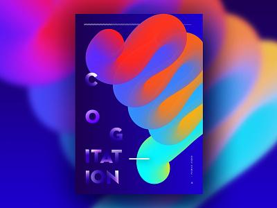 Experimento 3 - Cogitation bristol freelance typographic typography minimal colour visual design daily design graphic design experiment poster design