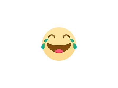 LOLS Emoji flat haha emoticon icon happy laughing laugh lols emoji lol