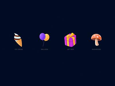 Gift icon 2 design icon 图标 设计 ui 插图