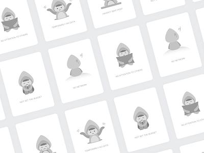 Empty State 鲨鱼 应用 图标 illustrations 活跃 设计 插图 ui