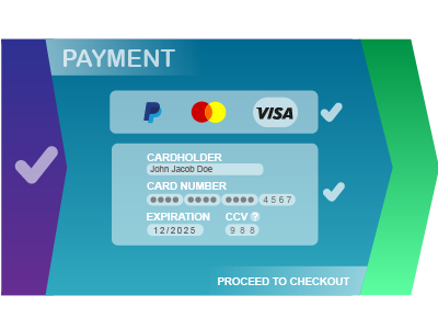 Daily UI Challenge 002 Credit Card Checkout color design visual design design ui design ui credit card checkout ui challenge daily ui