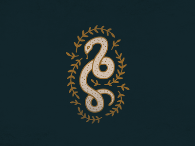 Sneaky Snek digital art color palette texture graphic design procreate tattoo digital drawing illustration plants snake