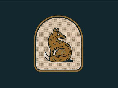 Foxy Lil' Feller color palette monoline texture halftone illustrator illustration badge design graphic design foxy fox