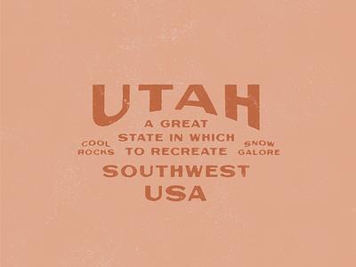 Utah Rocks outdoor apparel outdoors logo design type lockup typography badge graphic design national parks bryce canyon canyonlands zion southwest rocks utah