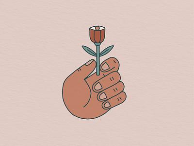 The Sacred Eyeflower color palette texture hand drawn illustration eye hand flower