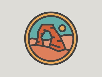ARCHES NP icon badge thicklines national parks arches