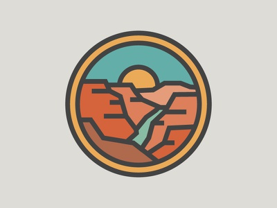 GRAND CANYON NP icon badge thicklines national parks grand canyon