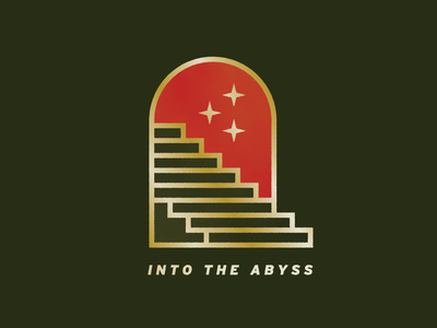 Into The Abyss logo color palette simple graphic design illustration vector geometric stars abyss stairway