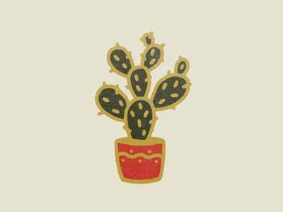 Prickly Boi illustrator enamel pin pin digital drawing color palette texture vector illustration graphic design cactus
