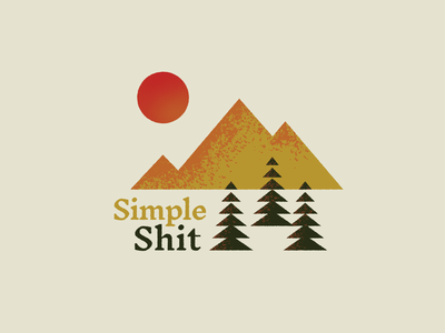 Simple Shit nature minimal typography simple color palette graphic design illustration texture geometric trees mountains