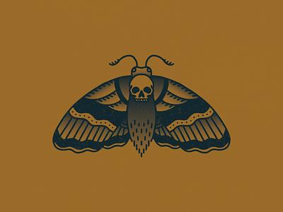 Wings of Death symmetry digital drawing monoline gradient texture color palette graphic design illustrator illustration skull moth