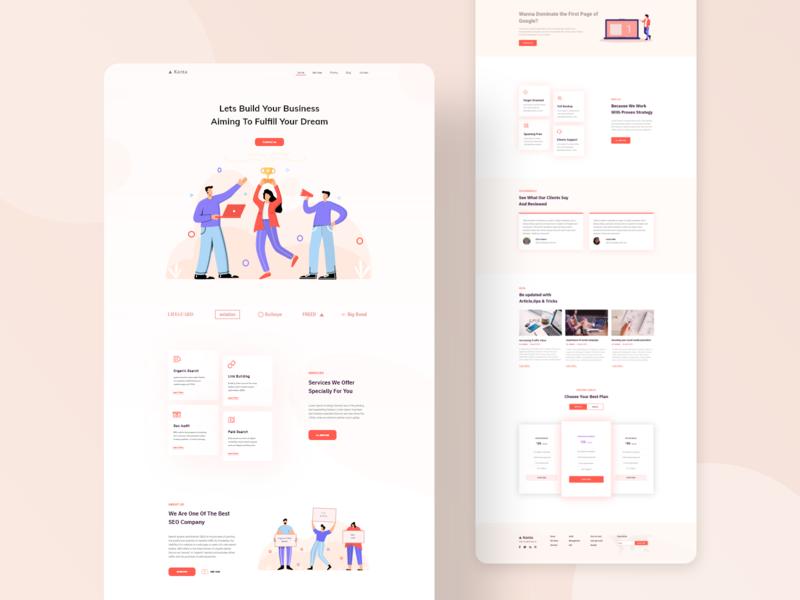 Seo landing page minimal concept seo interface design designer business 2020 landing page website web design web uiux ui design branding ux ui