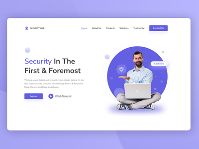 Landing page Hero exploration website header interface design software security cyber 2020 ux design ui design ux ui web landing page hero section