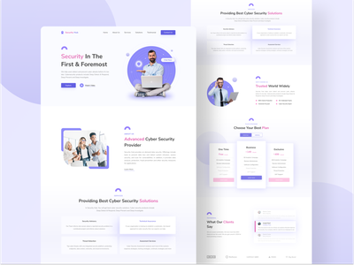 Cyber Security Landing page uxui business webdesign security cyber trending 2021 typography concept landing page ui agency website interaction interface web design landing page ux ui