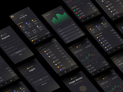 Cryptocurrency Trading Mobile App design usability sell buy minimalist simple typography application 2021 trending interface design trading mobile app ux design ui design dark theme cryptocurrency