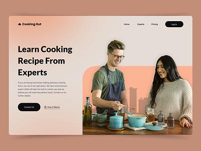 Hero Exploration trending expert interface web design learn recipe cook old 2021 header website web app typography designer branding design uxui ux ui hero