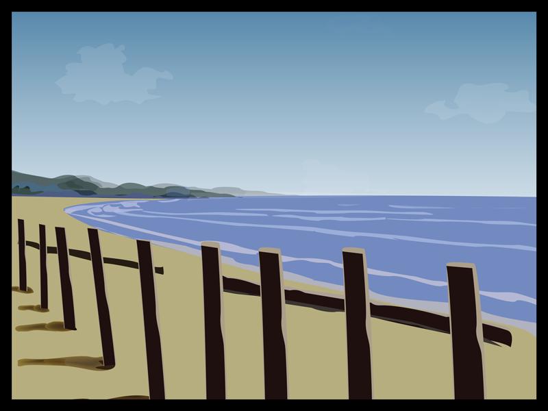 sea beach ( illustration) vector photoshop illustrator artwork illustration art sea beach