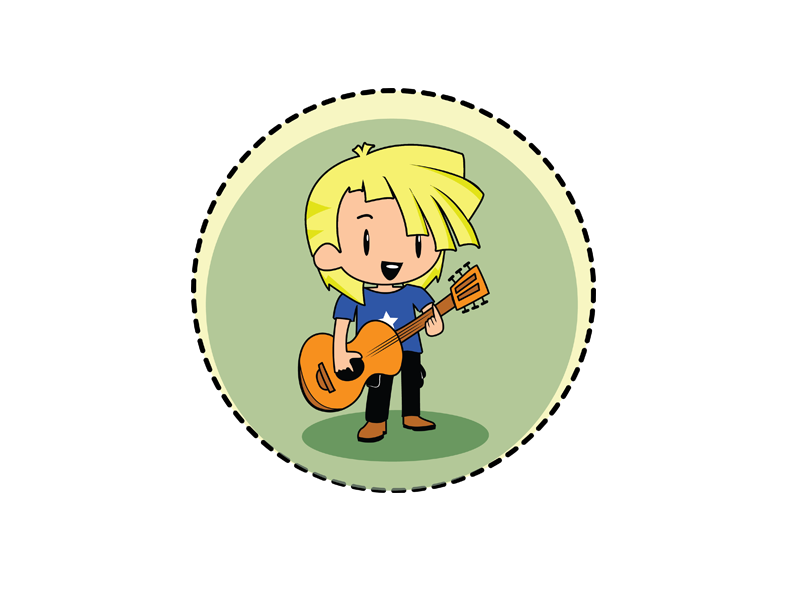 Lets play guitar shot guitar designer photoshop illustrator artwork illustration
