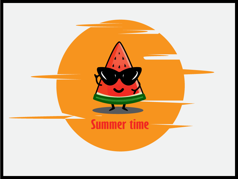 summer time watermelon atwork illustration dribbble