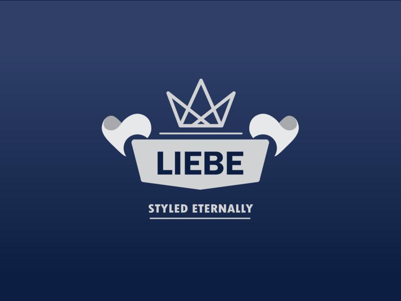 LIEBE design branding atwork adobe designer fashion brand clothing minimalist vector illustration art logo