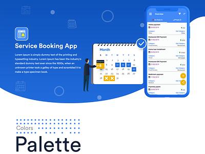 Services Booking Mobile App Reminder - Case Study web design booking app services reminder app app case study uiuxdesign mobileapp ux branding app ui design
