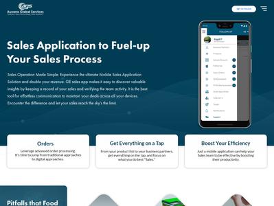 Sales Management Mobile App - Case Study Landing Page