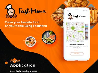 Fast Menu - Live Restaurant Menu Mobile App restaurants food ordering app restaurant app illustration android app branding uiuxdesign ui mobileapp design app case study app