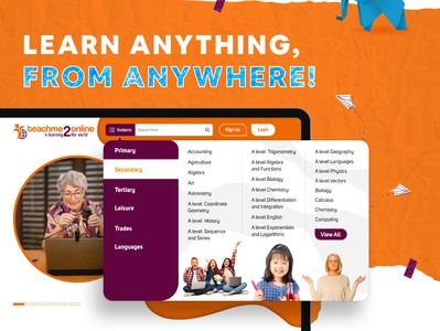 Teachme2Online | Online Learning | UI/UX | Web App