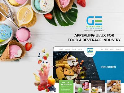 UI/UX of Food & Beverage Website beverage food appealing food and drink beverage industry food industry webdesign uiuxdesign ui design branding