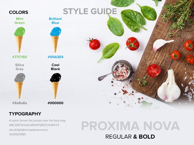 Style Guide : Ice Cream & Ingredients Industry beverage food industry webdesign uiuxdesign design branding ui ice cream cone ice cream colorswatch colors style guide styleguide