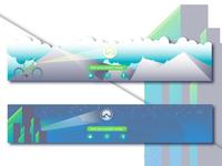 Creative Footer Design illustration adobe illustrator design footer design web design