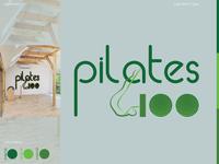 Pilates100 Logo ai vector logo design typography brand logo adobe illustrator illustration design