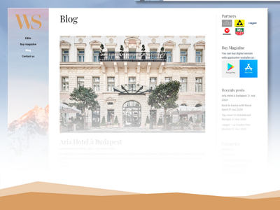 Template Blog WordPress webdesign