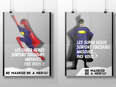 Be masked be a hero illustration