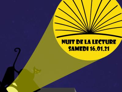 Nuit de la lecture illustration vector logo