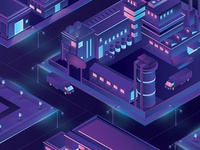 Isometric Factory walid beno awesome gradient icons gradient city purple ui isometric factory isometric factory